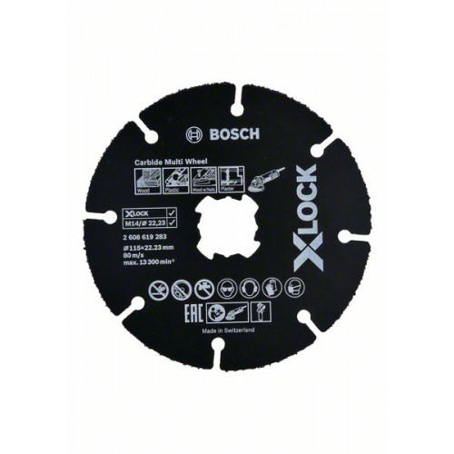 Bosch X-LOCK Carbide Multi Wheel rezne ploče