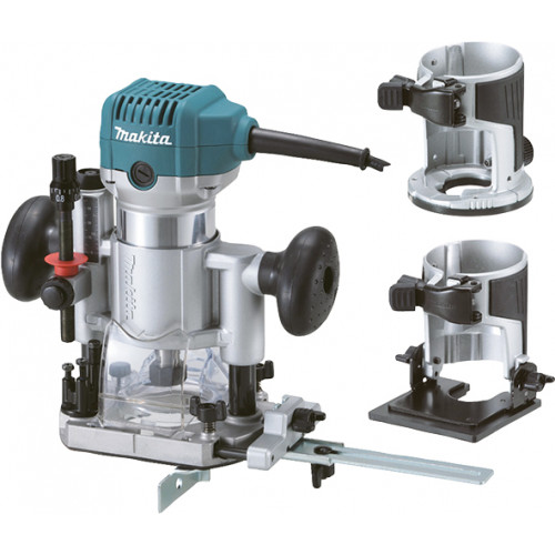 Makita RT0700CX2J Jednoručna glodalica 710W Set